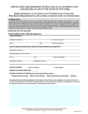 new york affidavit requirements - Fill, Print & Download