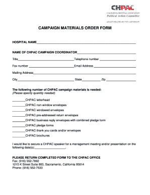 fillable online campaign coordinator appointee fax email print rh pdffiller com