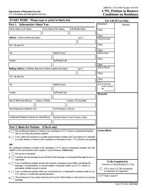 Sample I 751 Affidavit