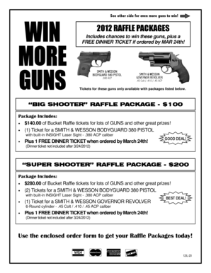 2012 RAFFLE PACKAGES - Friends of NRA - friendsofnra