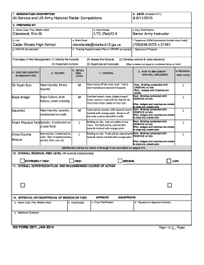 Fillable Online DD Form 2977 Deliberate Risk Assessment Worksheet ...