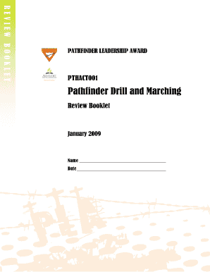 Fillable Online Pathfinder Drill and Marching Review Booklet