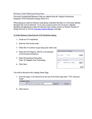 Business card ordering instructions adminfinanceumwedu fill online preview of sample jan colourmoves