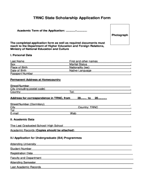 Trnc State Scholarship 2017. Rate This Form