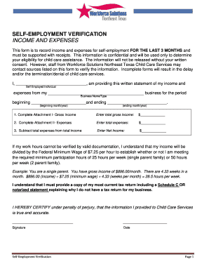 22 Printable Income Verification Letter For Self Employed Forms And Templates Fillable Samples In Pdf Word To Download Pdffiller