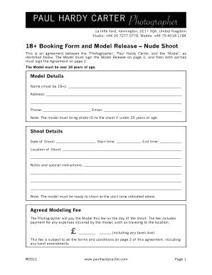 Nude Model Release Form 4   Paul Hardy Carter