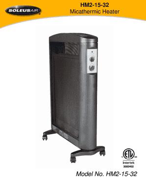 Fillable Online Hm2 15 32 Micathermic Heater Soleus