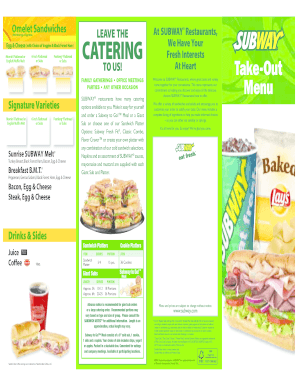 photo regarding Subway Menu Printable identified as 26 Printable Subway Positions Style Templates - Fillable