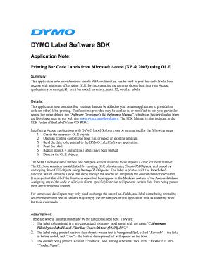 DYMO Label Software SDK Fill Online, Printable, Fillable