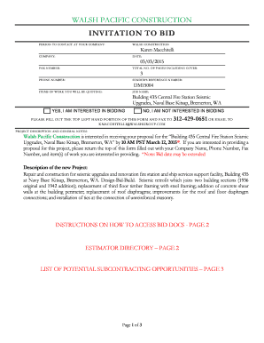 Construction Bid Proposal Template Word Edit Fill Print - Construction bid proposal template word