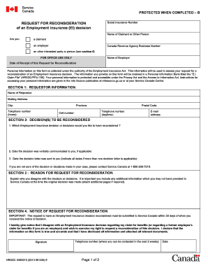 fillable online bctf request for reconsideration of an employment