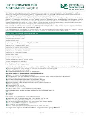 Health Risk Assessment Sample. Assessment: Sample 2