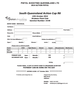 South Queensland Action Cup R6 - pistolshootingqldorg