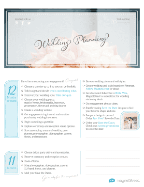 Wedding Checklist - MagnetStreet