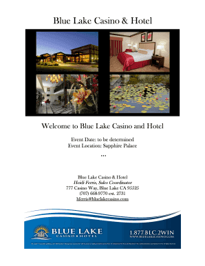 Catering agreement - Blue Lake Casino