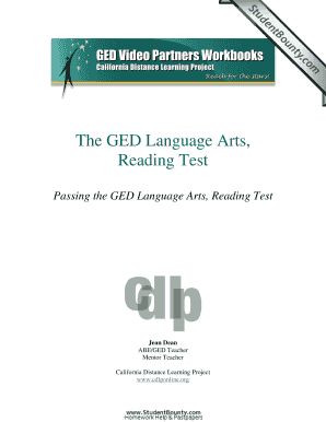 the ged language arts writing test The 2014 ged has a new section called reasoning through language arts, which replaces the section known as the ged reading test this test has a series of reading passages that are between 450 and 900 words, and you will be asked several questions about each of the passages.
