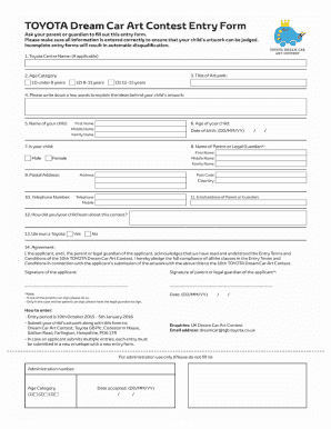 printable toyota car application form templates to submit online in