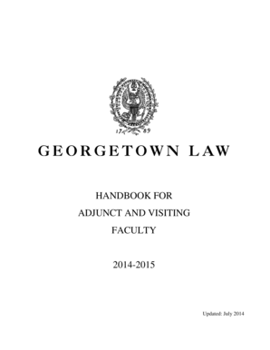 Handbook for adjunct and visiting faculty 2014-b2015b - Georgetown bb - law georgetown