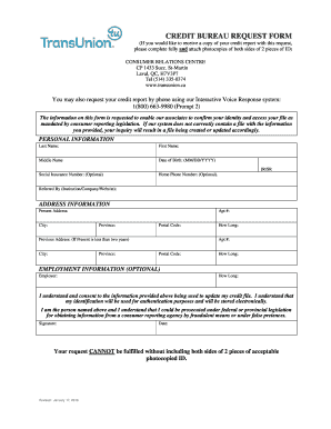 8 Printable free transunion credit report Forms and Templates