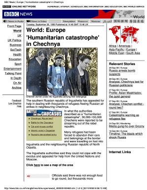 Fillable Online Adishakti Bbc News Europe Humanitarian Catastrophe In Chechnya Adishakti Fax Email Print Pdffiller