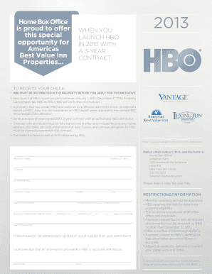 LAUNCH HBO A 3-YEAR CONTRACT - Home Box Office