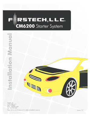 Cm6000 install guide. Table of contents pdf.