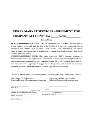 Sample forex trading agreement