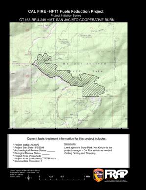 Fillable Online Frap Cdf Ca Cal Fire Hft1 Fuels Reduction Project