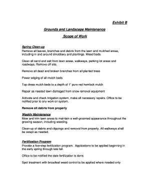Landscape maintenance scope work fillable printable resume grounds and landscape maintenance pronofoot35fo Choice Image