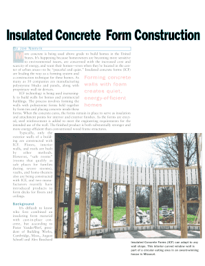 Icf construction disadvantages edit fill print for Disadvantages of insulated concrete forms