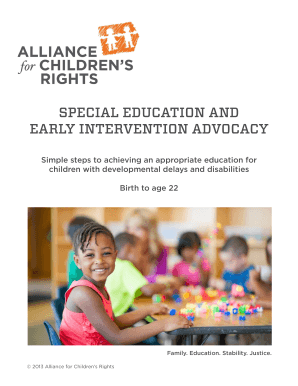 Special education and early intervention advocacy - kids-alliance