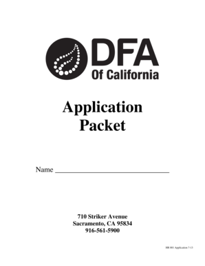fillable online employment application form dfa of california fax