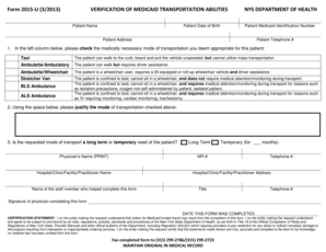 Fillable Online Form 2015-U 32013 VERIFICATION OF MEDICAID ...