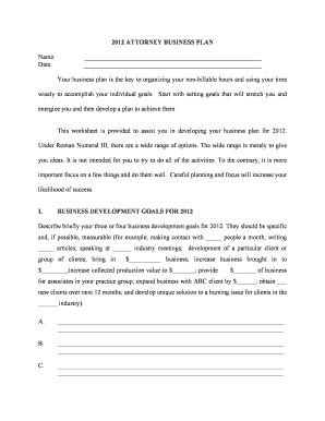 Attorney business development plan template - Printable ...