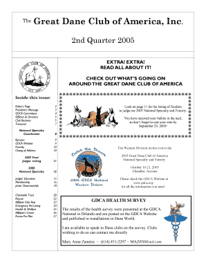 AROUND THE GREAT DANE CLUB OF AMERICA - gdca
