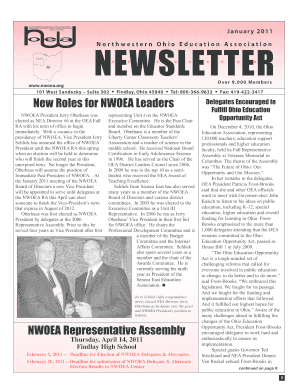 January 2011 NEWSLETTER - bnwoeaorgb