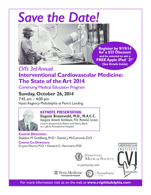 Save the Date - Cardiovascular Institute of Philadelphia - cviphiladelphia