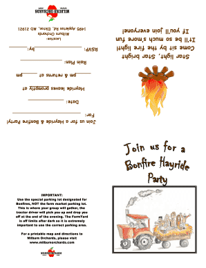 Hayride and Bonfire Party Invitation - Milburn Orchards