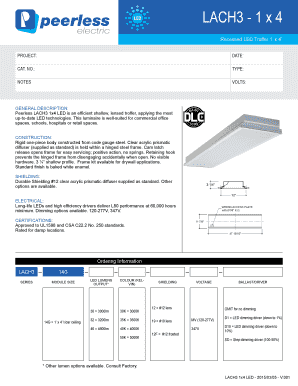 Fillable Online LACH3 1 x 4 LED Recessed LED Troffer 1 x 4
