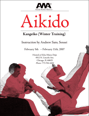 Aikido Kangeiko (Winter Training) Instruction by Andrew Sato, Sensei February 5th February 11th, 2007 Hosted at Kiku Matsu Dojo 4512 N