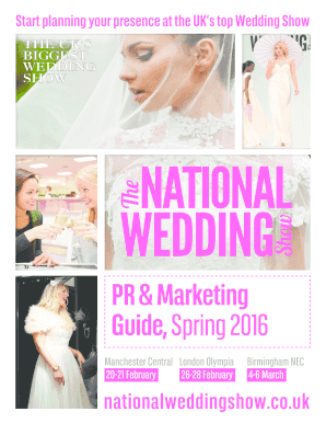 PR amp Marketing Guide Spring 2016 - The National Wedding Show