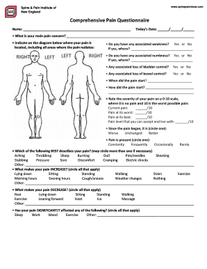 Editable pain diary template - Fillable & Printable Online Forms to ...