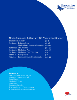 North Shropshire Oswestry DDP Marketing Strategydocx