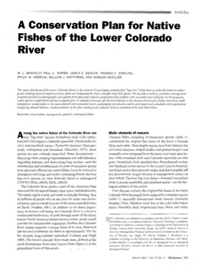 B2003b - A Conservation Plan for Native Fishes of the Lower Colorado bb