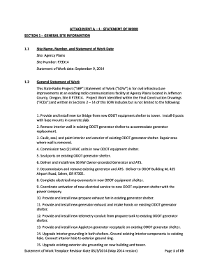 ATTACHMENT A 1 STATEMENT OF WORK - ftp odot state or
