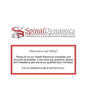 Welcome to our Office - Spinal Dynamics Chiropractic