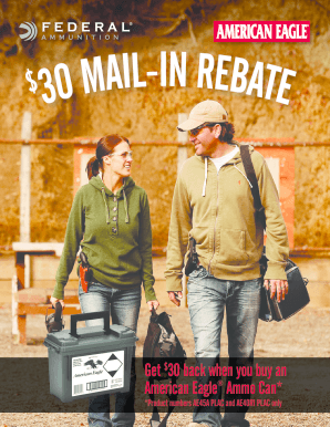 American Eagle Rebate >> Fillable Online American Eagle Ammo Can Fax Email Print Pdffiller