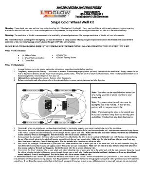 Fill Online  sc 1 st  PDFfiller & Fillable Online Single Color Wheel Well Kit - LEDGlow Lighting LLC ...