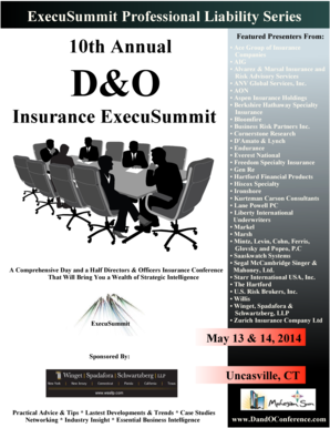 Fillable Online 10th Annual Insurance Execusummit Winget Spadafora
