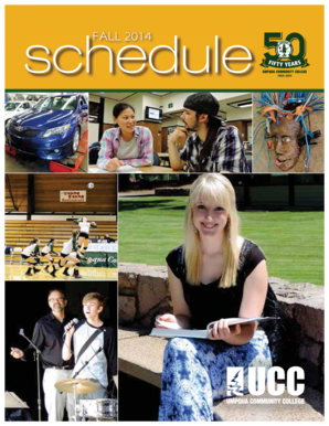 Fall 2014 Class Schedule - Umpqua Community College